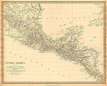 southern mexico central america yucatan belize mosquito coastsduk 1844 map