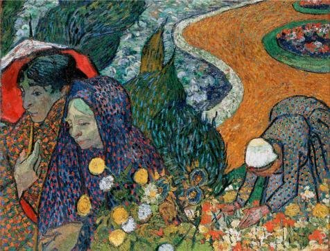 Oil Painting 'Memory Of The Garden At Etten (Ladies Of Arles),1888 By Vincent Van Gogh', 10 x 13 inch / 25 x 33 cm , on High Definition HD canvas prints, Game Room, Garage And Study Room (Shader Clock)