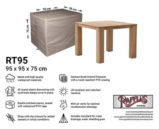 Raffles Covers NW-RT95 - Funda para Mesa de Exterior (95 x 95 x 75 ...