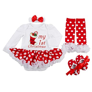 eb753e73ef30 Amazon.com  Slowera Baby Girls Christmas Outfits Clothes  Clothing