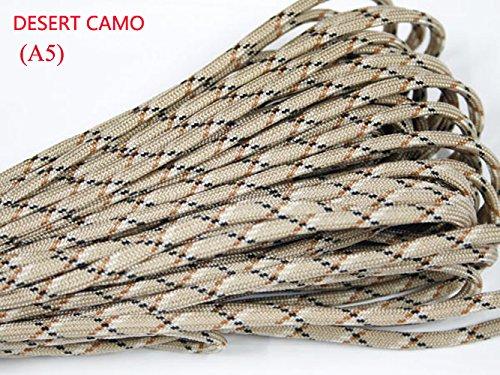 UPC 710824897075, 100ft 550 Paracord Parachute Cord Lanyard Mil Spec Type III 7 Strand Core (Desert Camo)