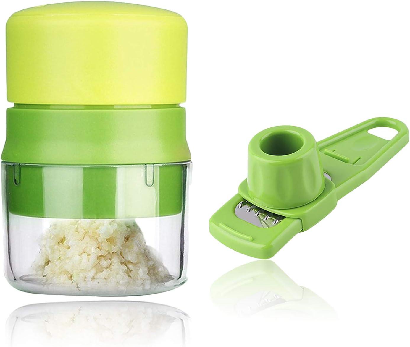 Garlic Press Crusher Mincer Chopper Peeler Squeeze Cutter Stainless Steel Gi;b$