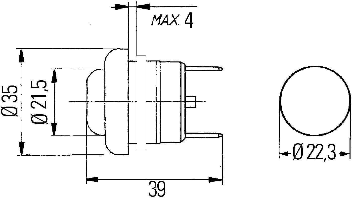 HELLA 6JF 001 571-041 Interruptor de encendido//arranque