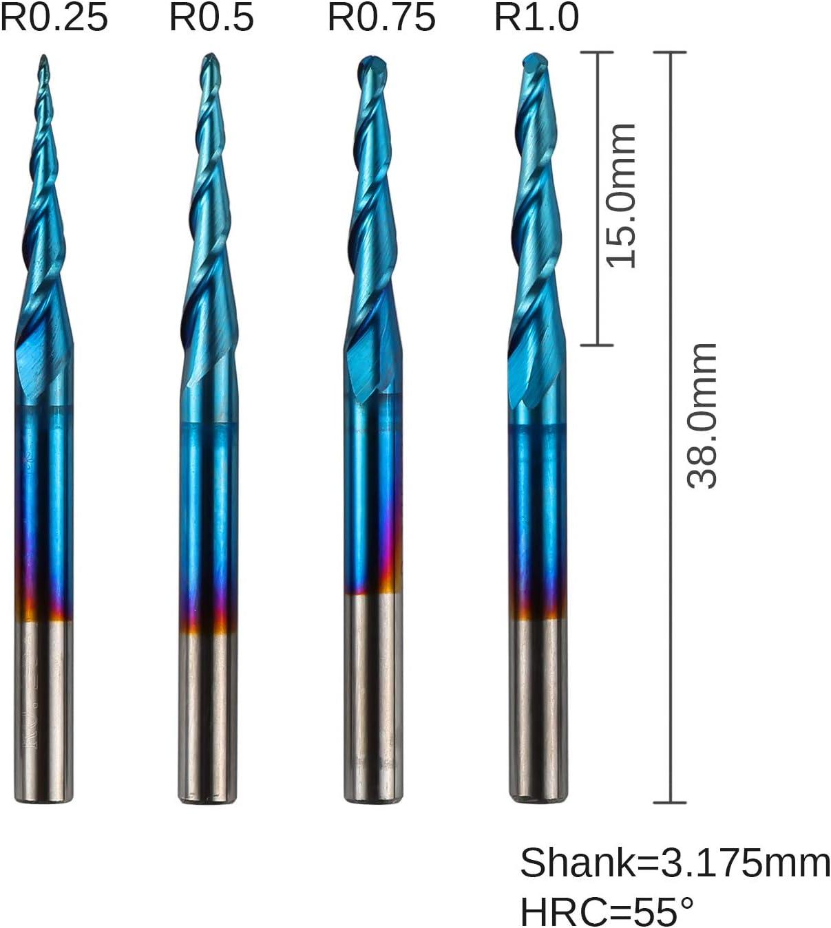 3 mm Shank Diameter 38 mm Length Titanium Nitride Coating 4.5 mm Cutting Length 1.5 mm Cutting Diameter SGS 48629 3M 2 Flute Square End General Purpose End Mill
