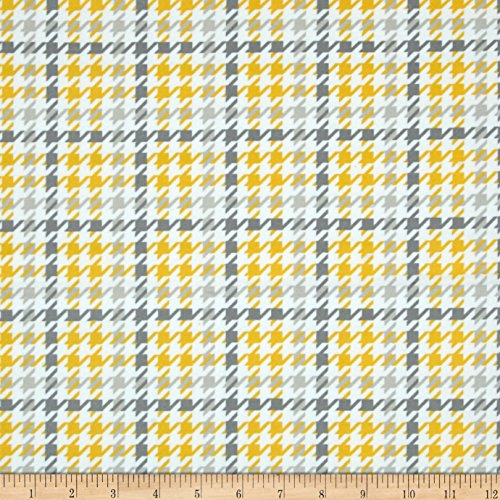 (Robert Kaufman Kaufman Cozy Cotton Flannel Houndstooth Yellow Fabric by The Yard,)