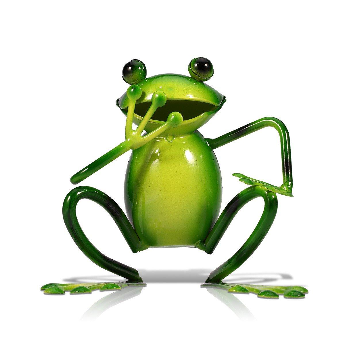 Tooarts Metal Sculpture Figurine Statue Ornament Crafts Frog