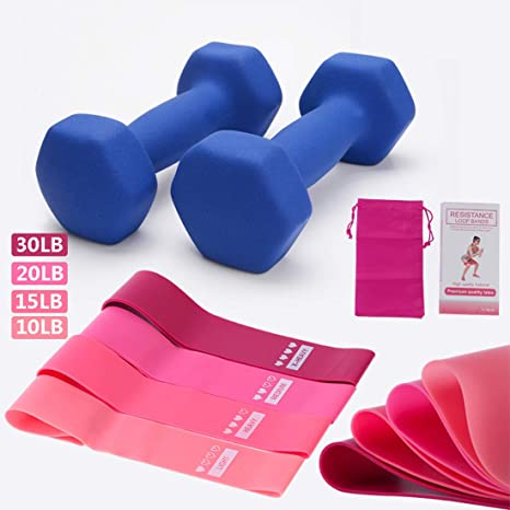 Neoprene Dumbbells for Home Gym Exercise Fitness and Weights for Women and Men Anti-Rolled Dumbells Color : Blue, Size : 2~3~4kg