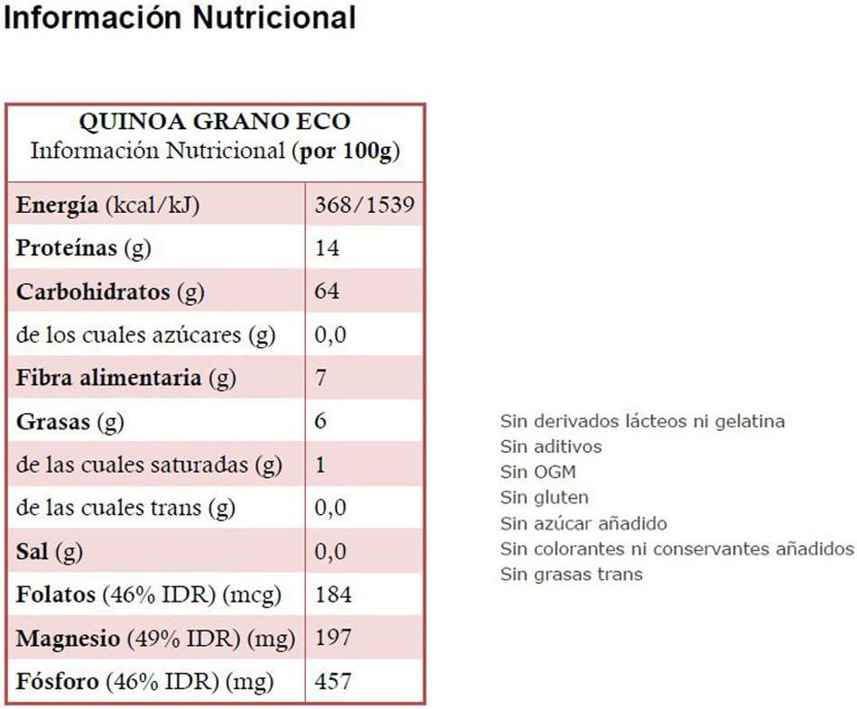 QUINOA grano ECO: (500 gr) XL pack: Amazon.es: Salud y ...