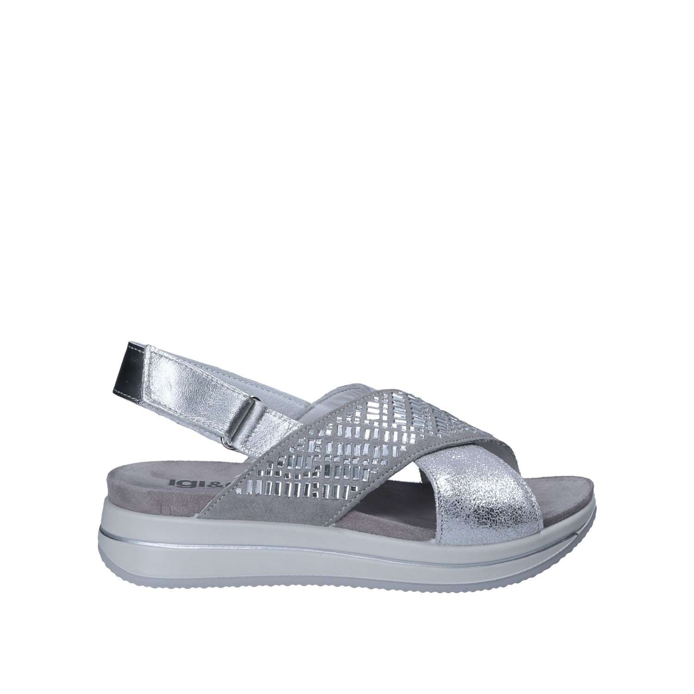 IGI&CO 1172 Sandalo Velcro Donna Argento 38 -