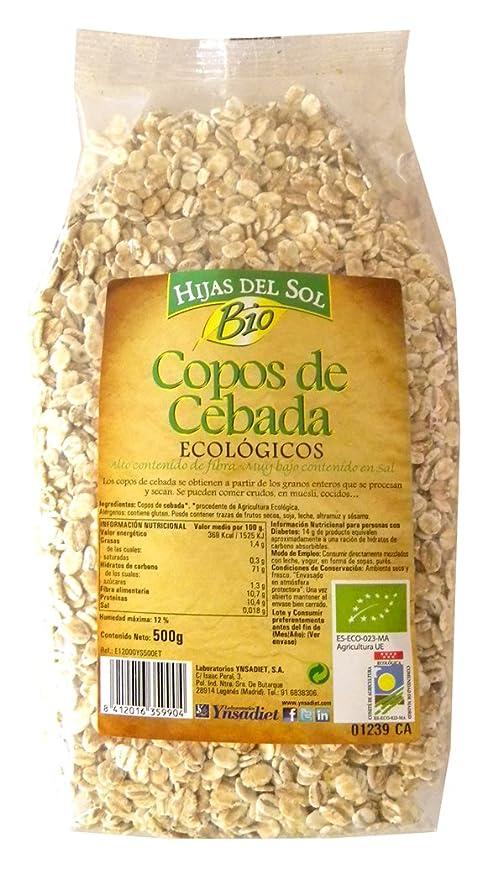 Hijas Del Sol Bio Copos De Cebada - 500 gr - [Pack de 4]: Amazon.es: Alimentación y bebidas
