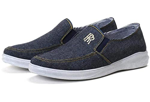 Men's Lightweight Driving Jahgdu Casual Fashion Loafers Shoes Linen SVqUzMpG