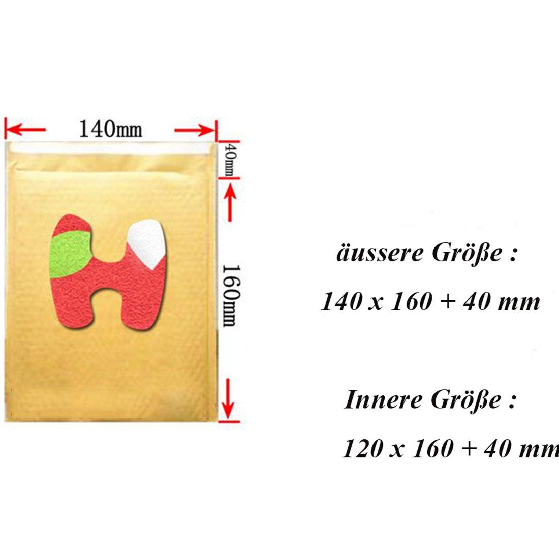 LissomPlume Padded Envelopes Kraft Bubble Mailer 8 x 11 Shipping Bags Seal Pack