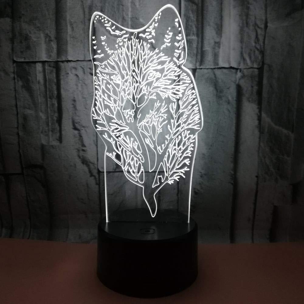 HHXZ Night light Animal Animal Animal 3D Regalo Personalizado Toque Control Remoto Pequeña Lámpara De Mesa 7f5151