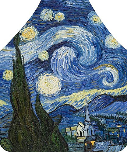 - Axe Sickle Van Gogh Painting The Starry Night Apron, Kitchen Apron for Mom Women Girlfriend.