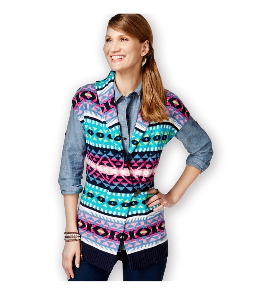 American Living Womens Fair-Isle-Print Sweater Vest caprinavymulti 2XL by American Living