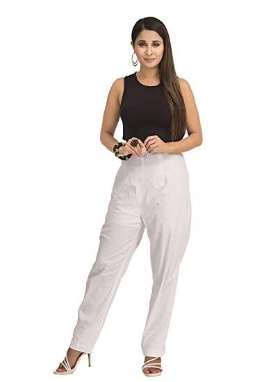 4fbf08ba ADA Handmade Lucknow Chikan Regular Wear Cotton Palazzo Pant  (A116120_White): Amazon.in: Clothing & Accessories