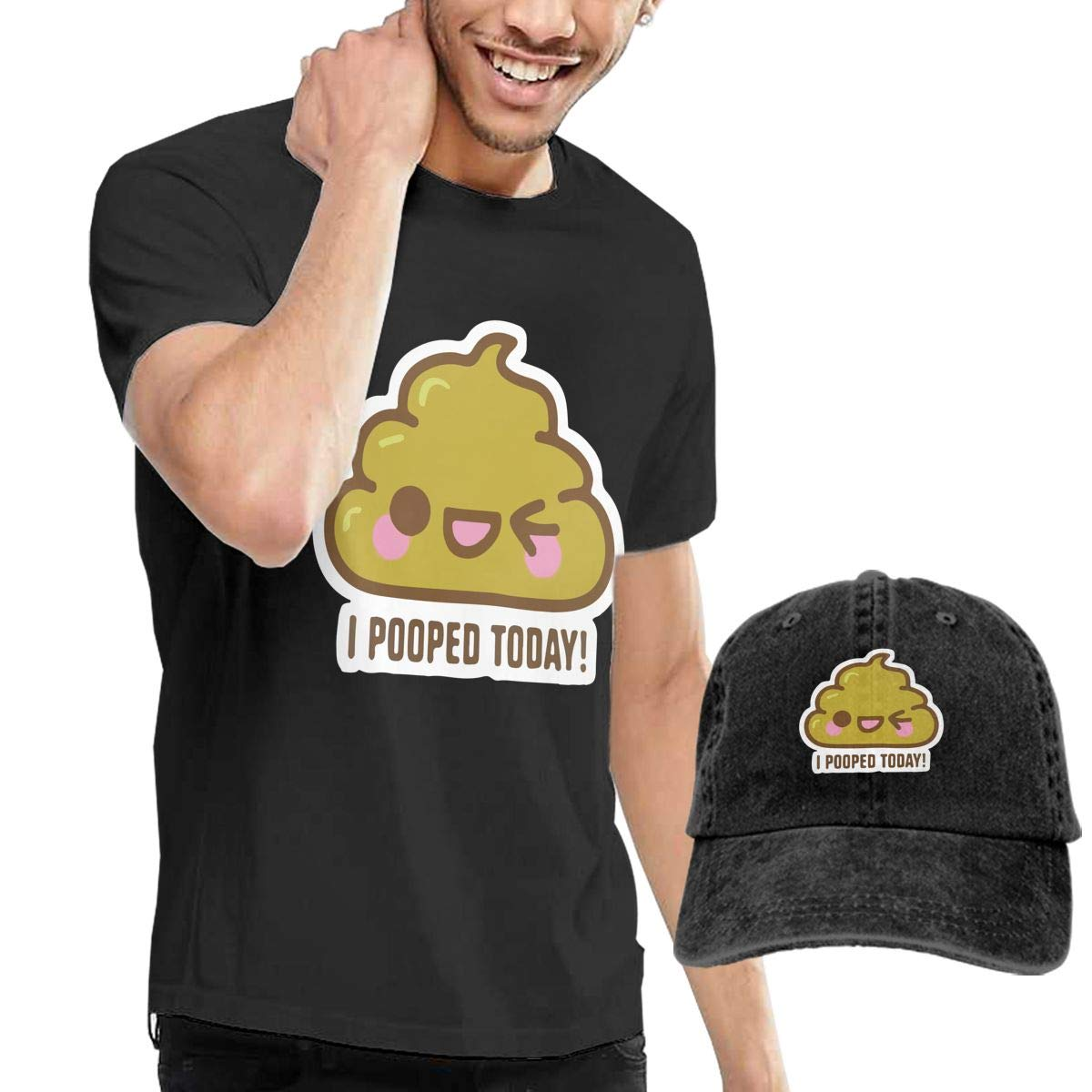 QqZXD I Pooped Today Fashion Mens T-Shirt Hats Youth /& Adult T-Shirts