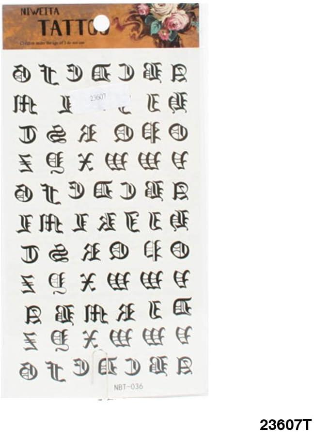 Tattoo letras de la altdeutschen Alfabeto: Amazon.es: Salud y ...