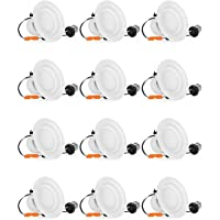 12 Pack SHINE HAI 4 Inch LED Recessed Lighting (Daylight White)
