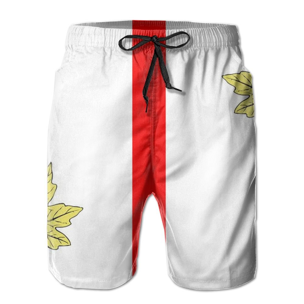 YOIGNG Boardshorts Maple Leaf Canadian Mens Quick Dry Swim Trunks Beach Shorts