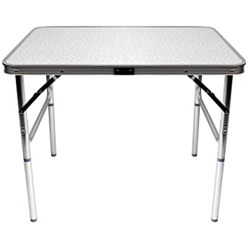 Tavolo Pieghevole In Alluminio.Wohaga Tavolo Pieghevole In Alluminio Amsterdam 75x55xh60cm