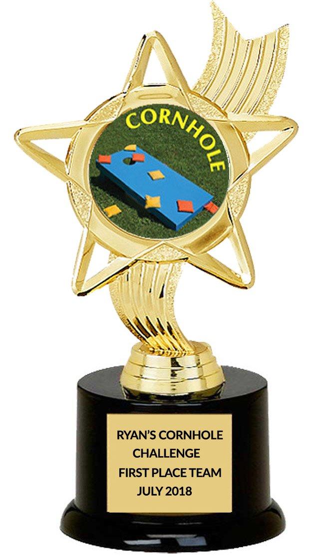 DINN BROS., INC. ''THE TROPHY PEOPLE'' Cornhole Winner Trophy