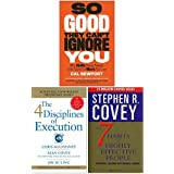 So Good They Can't Ignore You, 4 Disciplines of Execution, The 7 Habits of Highly Effective People 3 Books Collection Set