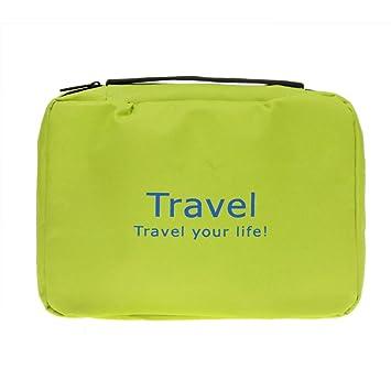 FakeFace - Neceser de viaje con cremallera Verde verde: Amazon.es ...