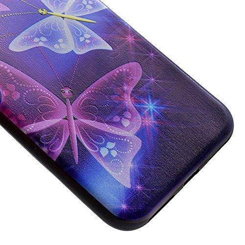 MMRM Motif Papillon Souple TPU Gel Caoutchouc étui Coque pour iPhone 7 Plus