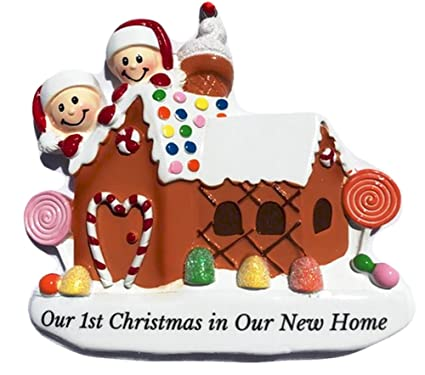 Amazon our 1st christmas in new home personalized christmas our 1st christmas in new home personalized christmas ornament do it yourself kit family of solutioingenieria Gallery