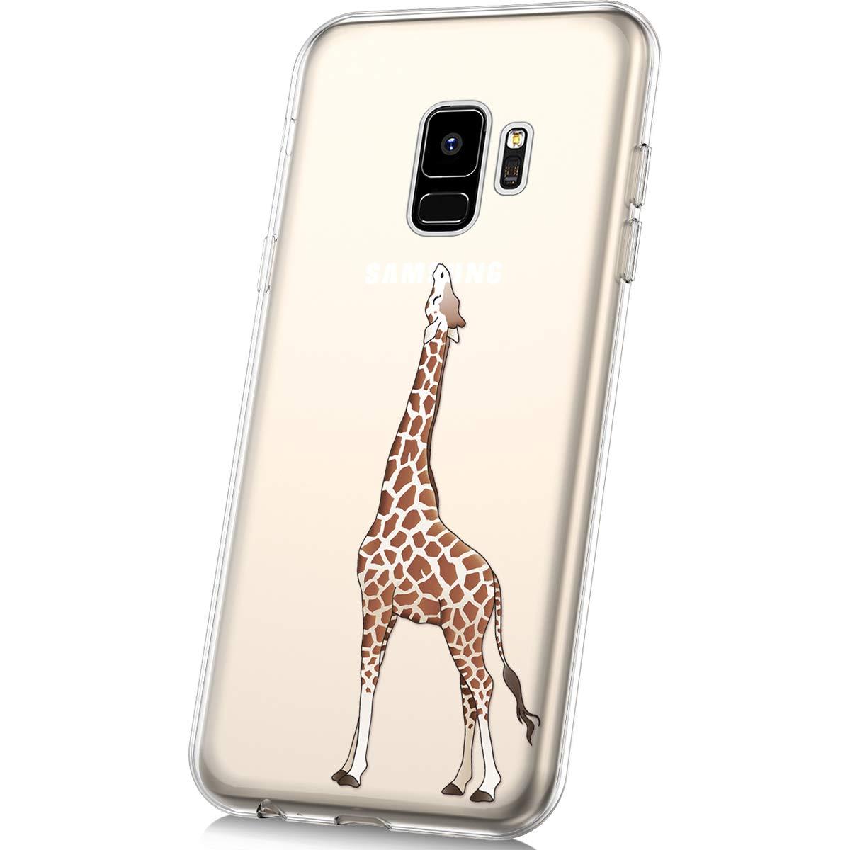 JAWSEU Custodia Galaxy S9,Cover Galaxy S9 Silicone TPU Trasparente,Bella Creativo Cristallo Chiaro Ultra Sottile Flessibile Morbida Soft Gel Bumper Coperture Protettiva Cover,#19