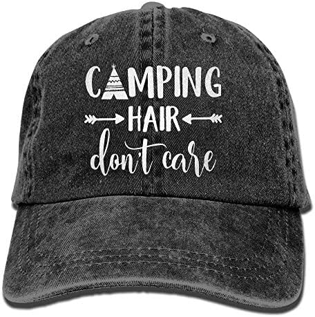 Splash Brothers Customized Unisex Camping Hair Don't Care Vintage Adjustable Baseball Cap Denim Dad Hat