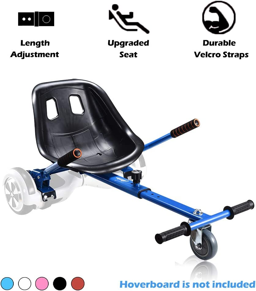 Go Kart Hoverboard Seat Attachment Accessories Hover Board Cart for All Ages Self Balancing Scooter Compatible with 6.5'' 8'' 10'' Adjustable Seat Frame
