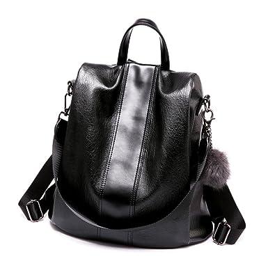 9fe4d007ae New Fashion Student Backpack Korean Zipper bag Fashion Women s Shoulder  Handbags Bag (Black)