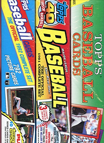1990 1991 1992 Topps Baseball Card Complete Box Set Collection FACTORY SEALED