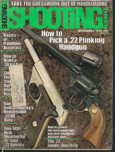 SHOOTING TIMES 22 Handguns Mag-Na-Port Budischowsky 25 Auto Weatherby 11 1973