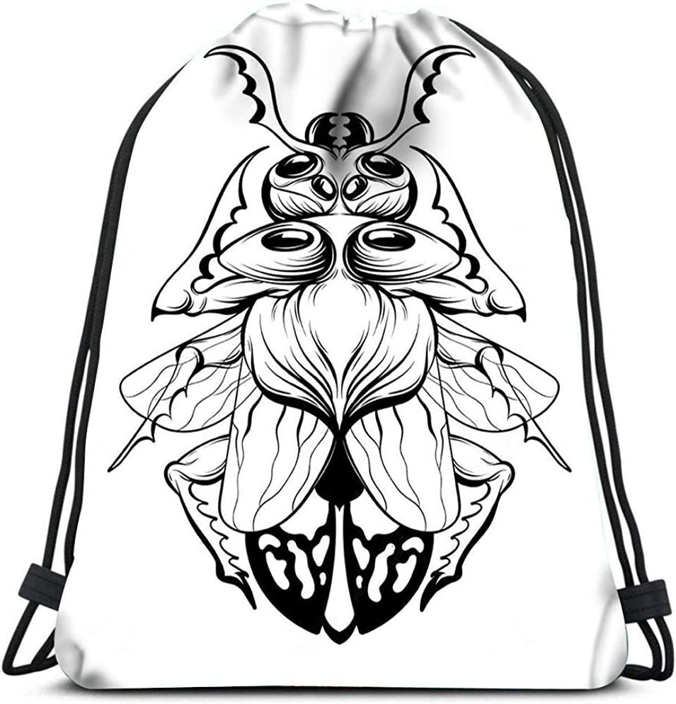 Sanme Mochila con cordón Escarabajo Tatuaje Creativo Bolsa de ...
