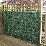 True Products Ivy 1 x 3 m Artificial Screening Ivy Leaf Hedge Panels on Roll Privacy Garden Fence - Green