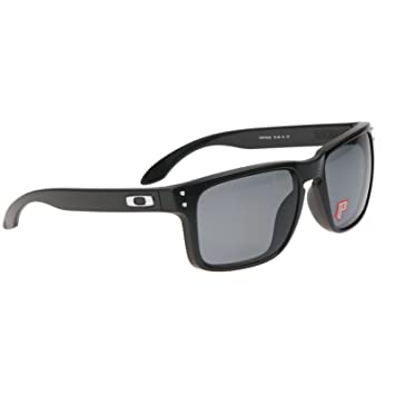 7d077a0001e OAKLEY Casual OAKLEY Holbrook Polished Black   Grey Polarized Glasses Sun  9102-02 OO