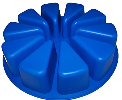 Molde para tarta con porciones (grande, redondo, silicona)