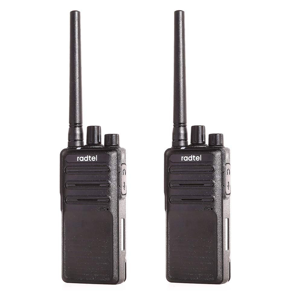 Radtel Rechargeable Handheld Two Way Radio T19 Long Range Voice Scrambler Walkie Talkie with Earpiece for Kids Adults Outdoor CS Hiking Hunting Travelling (1 Pair)