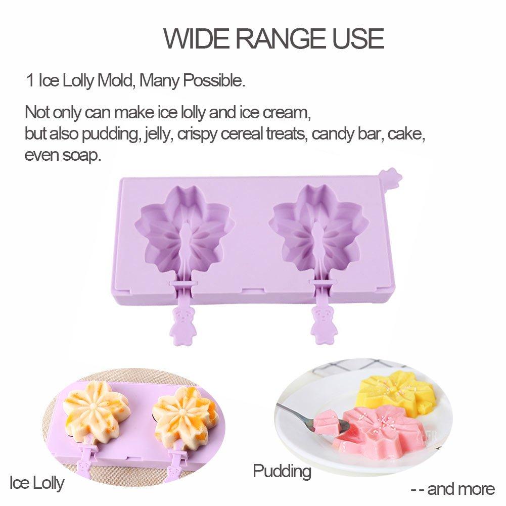 Compra Moldes de helado de paletas, Molde de helado de silicona - Flor DIY Flor de cerezo Fabricante de pop lolly - Libre de congelación y limpieza fácil ...