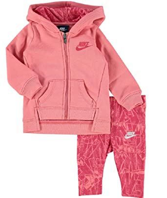 296a95b26 Nike New Tracksuit Peach Baby Girl 3 Months Hoodie & Graphhic Leggings Set  Outfit