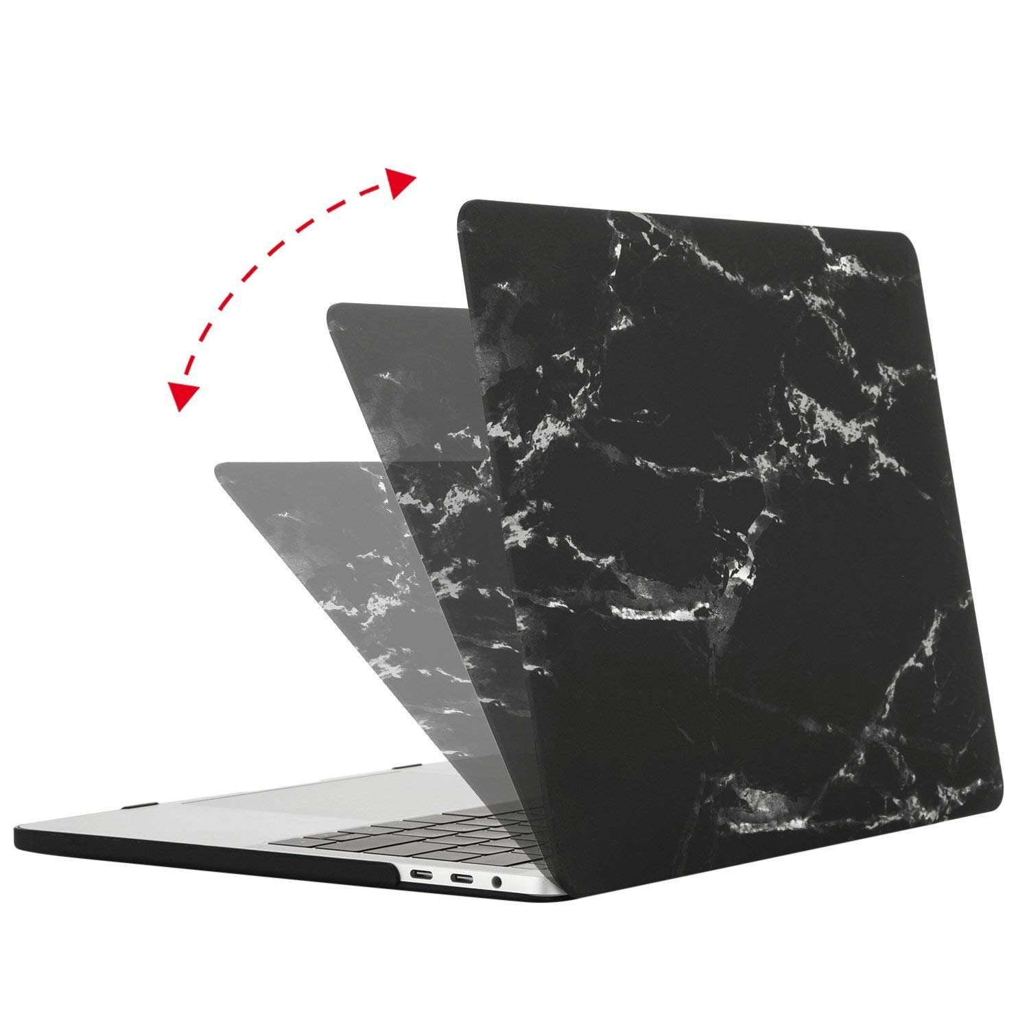 Plastic Hard Case Shell with Keyboard Cover with Screen Protector Compatible Newest MacBook Pro 15 Inch with Touch Bar Mosiso MacBook Pro 15 Case 2018 2017 2016 Release A1990//A1707 White Marble