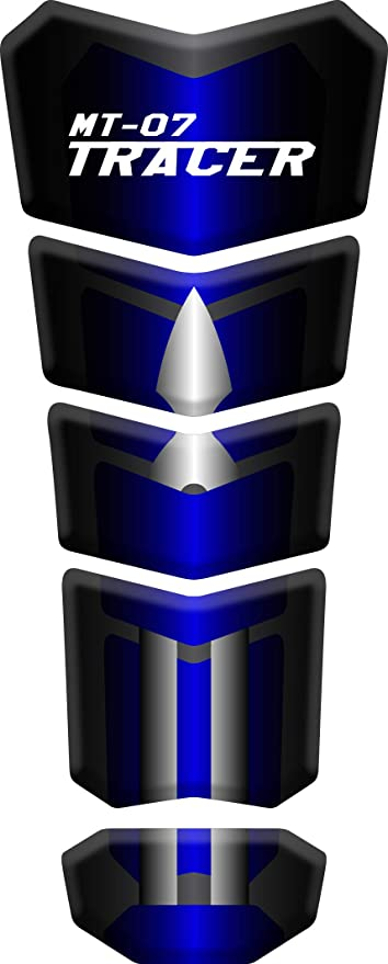 Tankpad Motorad Draht Muster Tankschutz Polymer Kompatibel Yamaha Mt 07 Tracer Blue Auto