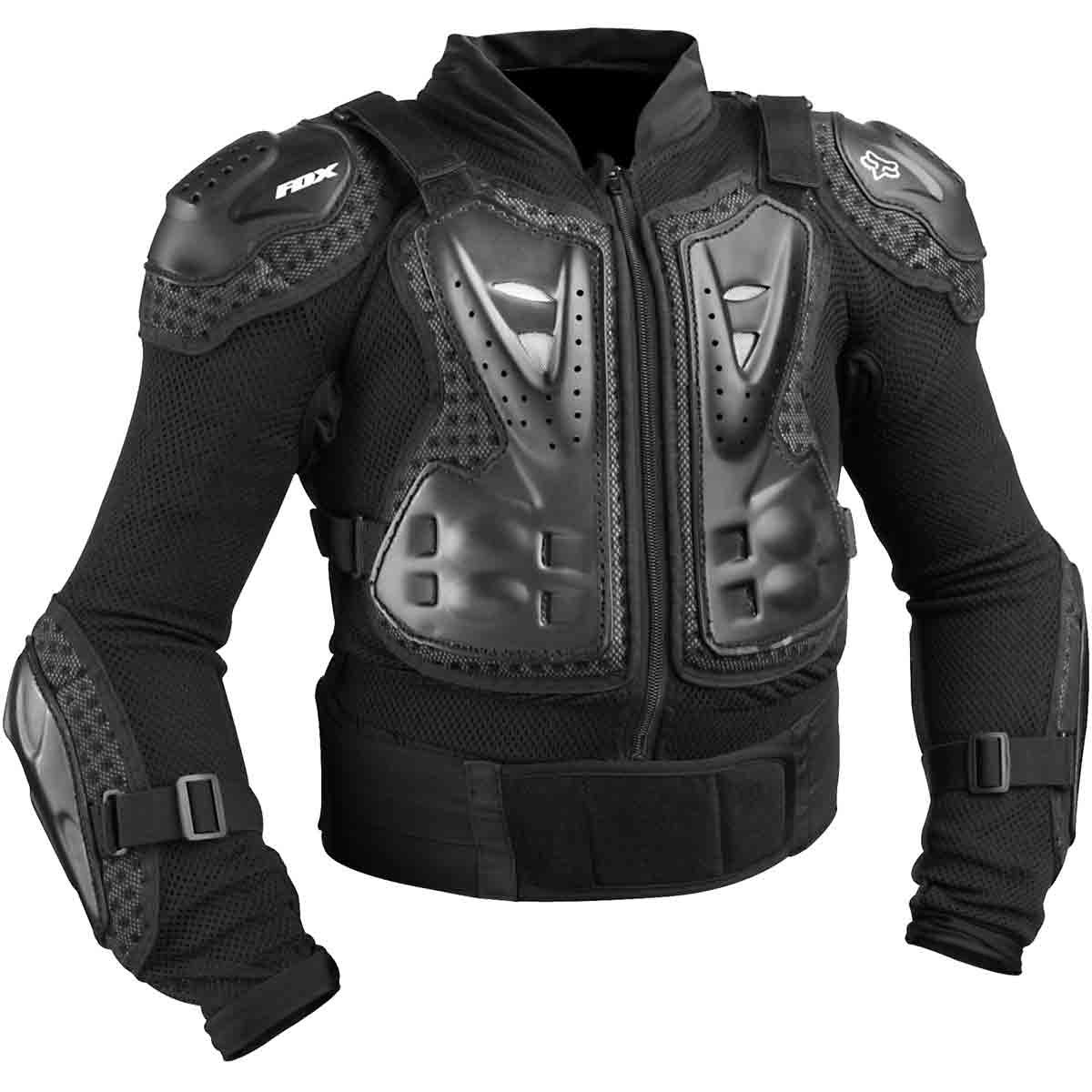 Fox Racing Titan Sport Jacket Youth Boys Roost Deflector MotoX Motorcycle Body Armor - Black / One Size