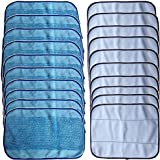 INTELCLEAN Accessories For 20-Pack Mixed Microfiber Mopping Cloths 10 wet + 10 dry for iRobot Braava 380 380t 320 Mint 4200 4205 5200 5200C Robot