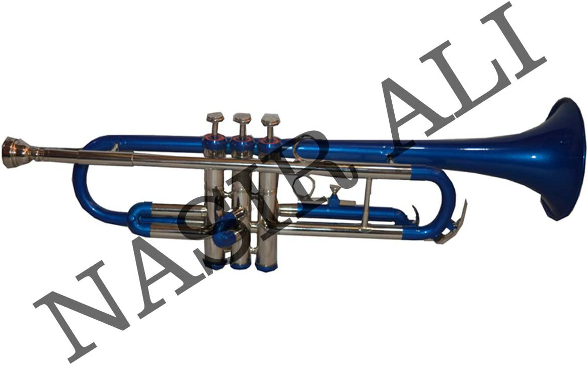 Trumpet Bb pitch Blue Brass color with free hardcase and mouthpiece