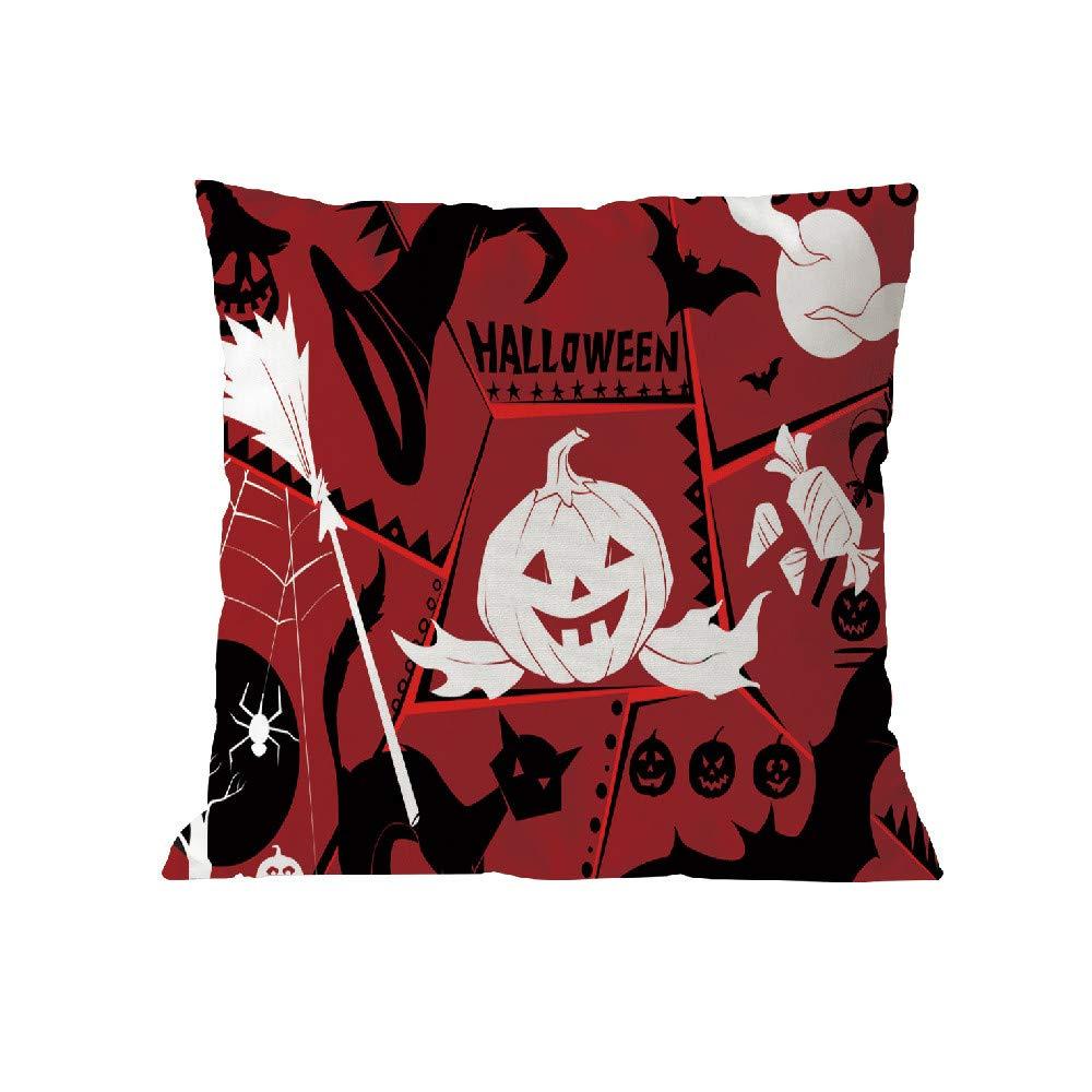 Halloween Pillow Case Pgojuni Throw Pillow Cover Cushion Polyester Cover Pillow Case Home Decor 1pc (45cm X 45cm) (I) by Pgojuni_Pillowcases (Image #1)