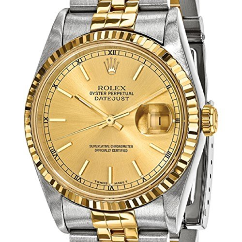 Rolex DateJust Men's 18K Yellow Gold and Stainless Steel Champagne Dial Certified Pre Owned by Roxx Fine Jewelry (Image #6)